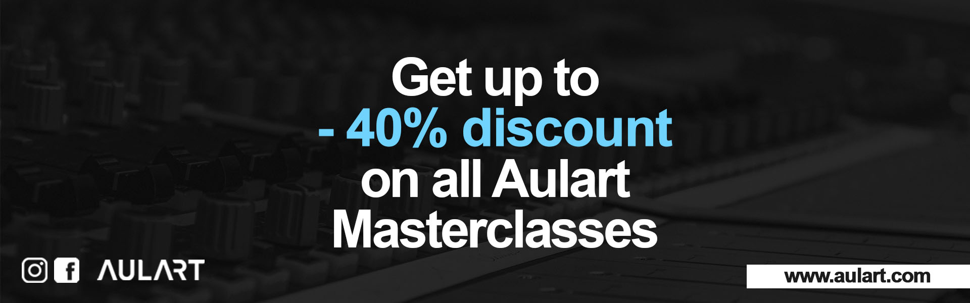 Subscribe and get 40% discount with Aulart